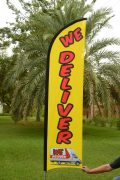 we delviver flag